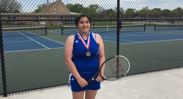 Pioneer Jr. Rebecca Larios wins Tennis All-Conference at #3 Singles