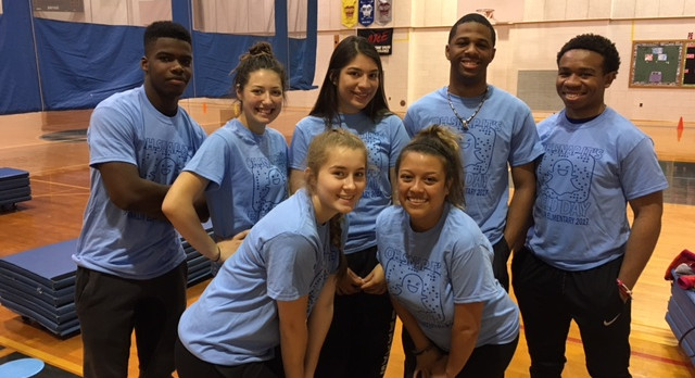 Clark Student-Athletes participate in Franklin Elementary's Field Day