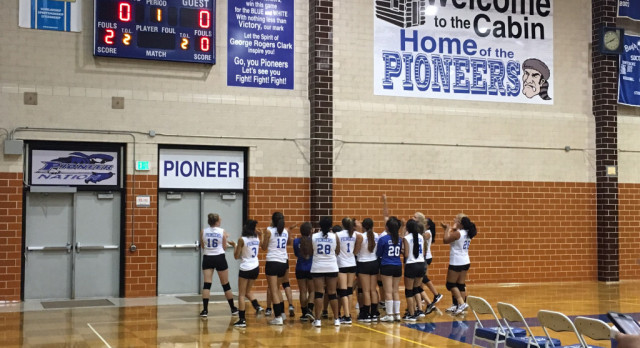 Lady Pioneers Volleyball team wins season opener vs Bowman Academy