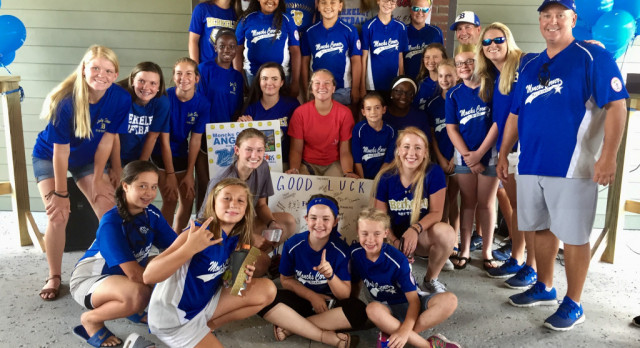 Berkeley Softball Attends Send-Off Celebration of the Moncks Corner Angels Team