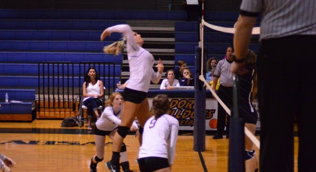 Varsity Volleyball team faces off against Cordova and Hayden