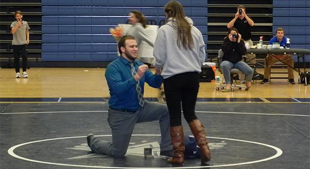 Congratulations Coach Freeman and Kristin