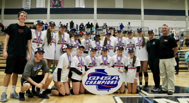 Volleyball Repeats as State Champions
