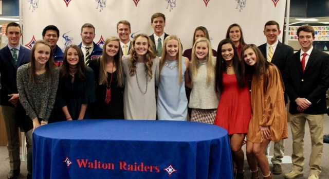 Seventeen Student-Athletes Sign National Letters of Intent to Play in College