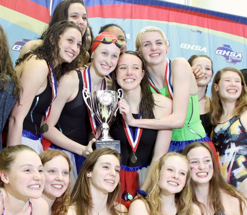 Girls Swim & Dive Wins State Championship