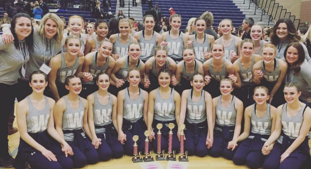 Drill Team Brings it to South Valley Dance Competition