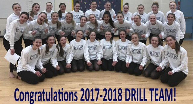 2017-2018  Drill Team Selected-CONGRATULATIONS!