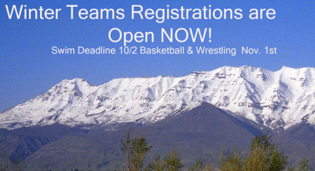Winter TEAM Registrations NOW OPEN!