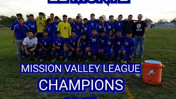 boys soccer MVL champs 2018
