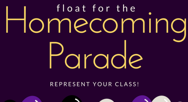 Help Create A Homecoming Float For Your Class!