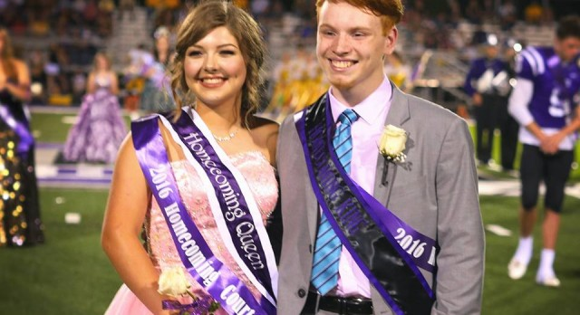 Congratulations to the 2016 Homecoming King and Queen!