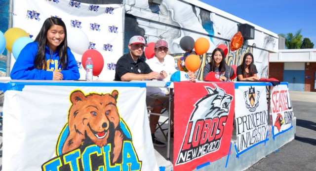 Five Walnut Athletes Sign Letters of Intent