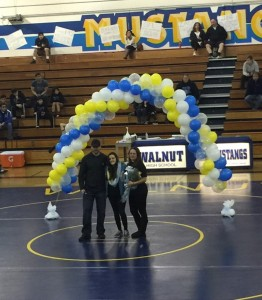 Mia Dow, most decorated wrestler in Walnut High School history.