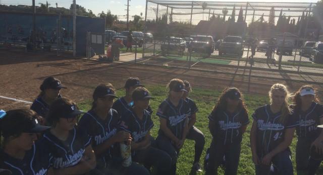 Walnut High School Varsity Softball beat Workman High School 9-6