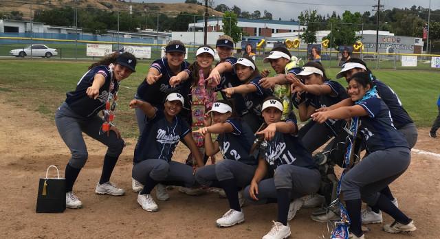 Walnut High School Varsity Softball beat Diamond Ranch High School 5-0