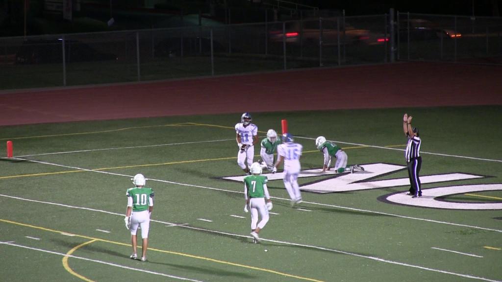 Andres Sais, #11, scoring a touchdown against Nogales.