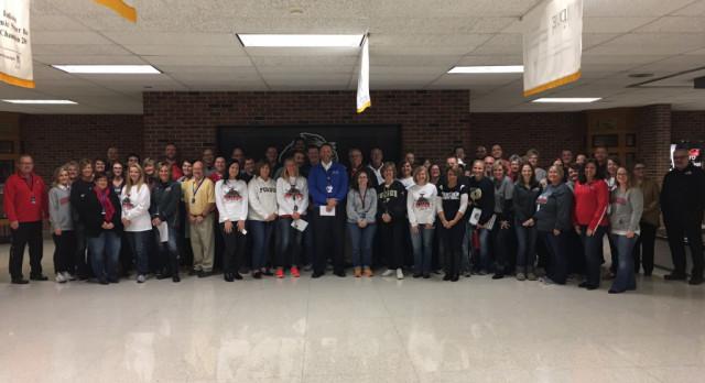 NorthWood Staff Celebrates David Maugel – Principal of the Year