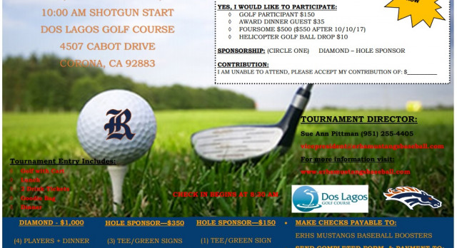 Baseball 4th Annual Golf Classic Info!