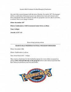 Frosh Banquet Information