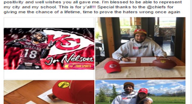 Josh Nelson Signs with Kansas City Chiefs!