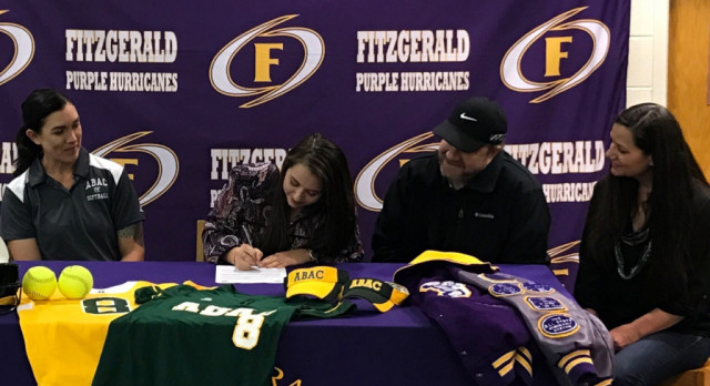 Dorough Signs Softball Scholarship With ABAC!