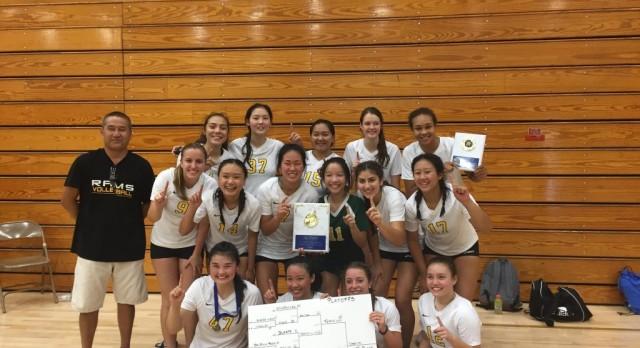 Ram Volleyball wins El Monte Tourney!