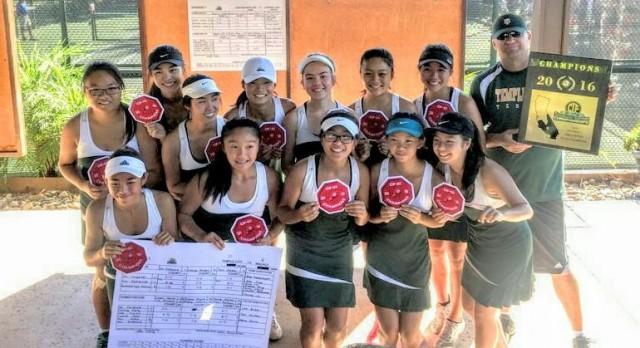Rams Tennis Team is CIF Champion!