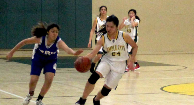 Temple City High School Girls Varsity Basketball beat San Marino High School 41-28