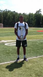 PRINCE DRU BEY WINS MVP AT THE CHRIS MELVIN CAMP AT WEST VIRGINIA