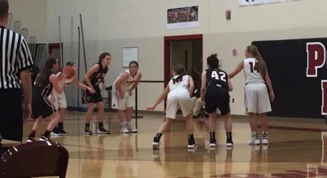 Girls Varsity Basketball Hangs With Good St. Johns Team