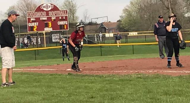 Both Varsity and JV Softball Sweep Okemos