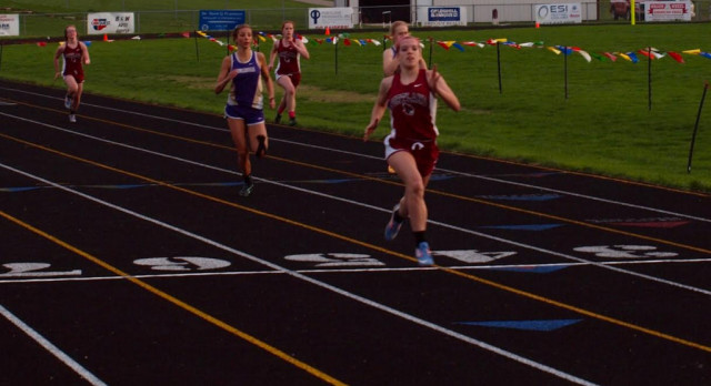 Girls Track Wins First League Meet of the Year
