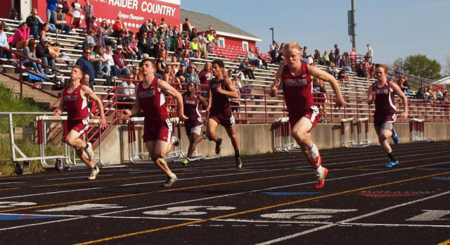 Several First Place Finishes for Boys Track vs ER