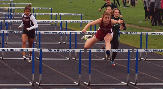 Girls Track Team Competes in League Meet
