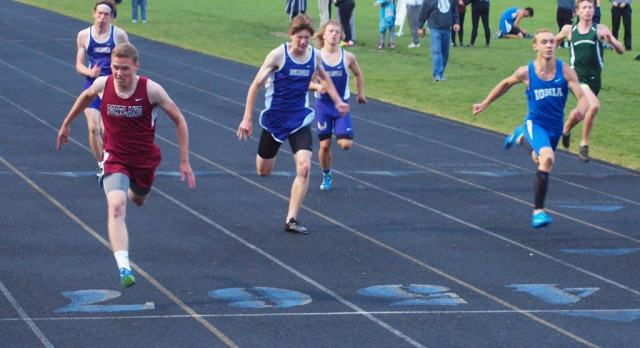 Boys Track Team Competes in League Meet