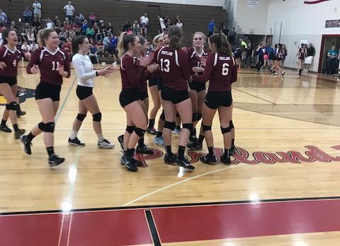 Varsity Volleyball Beats Ionia; Program Gets Sweep