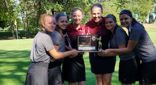Girls Golf Wins the League Championship