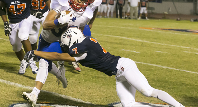 Blaze football gets back on track with a win over Warren County
