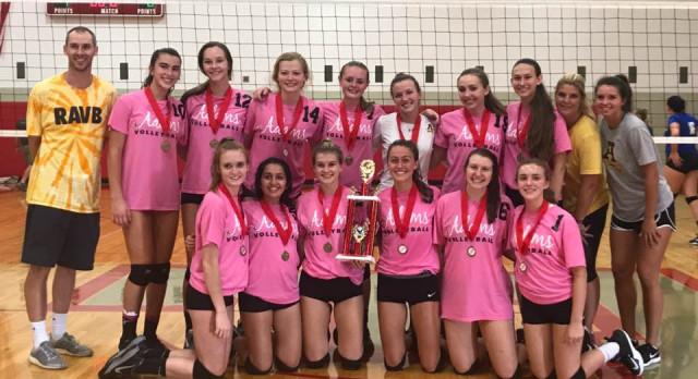 Adams High School Girls Varsity Volleyball beat Croswell-Lexington High School 2-0