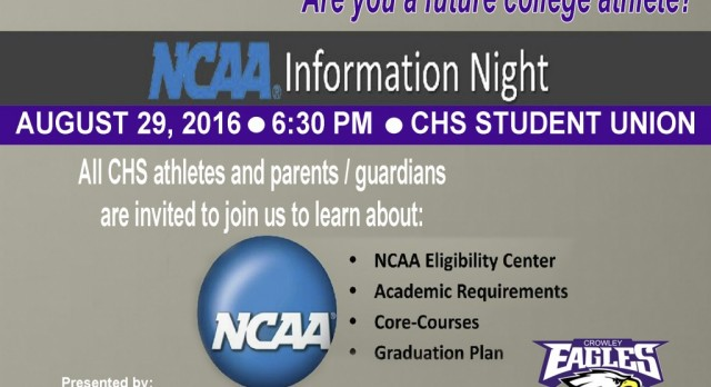 NCAA INFORMATION NIGHT