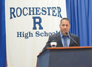 Rochester High Athletic Director Luke Beach