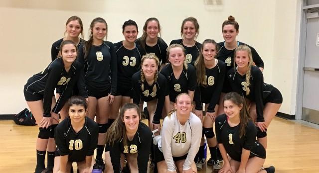 Apache Junction High School Girls Varsity Volleyball beat Metro Tech High School 3-1