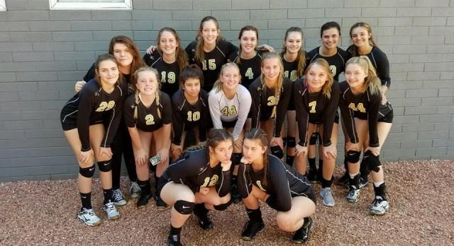 Apache Junction High School Girls Varsity Volleyball beat Washington High School 3-2