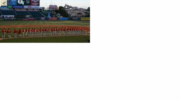 Baseball at Anaheim Stadium March 2016