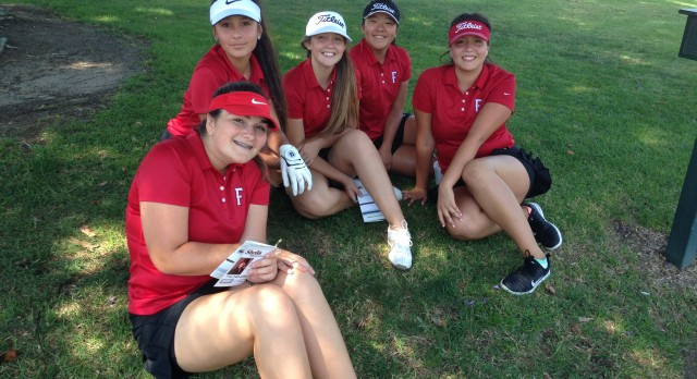 Fullerton High School Girls Varsity Golf beat Magnolia High School 321-360