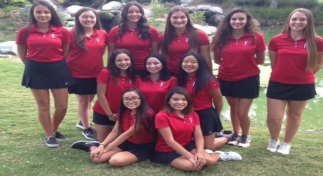 Fullerton High School Girls Varsity Golf falls to Sonora High School 209-298