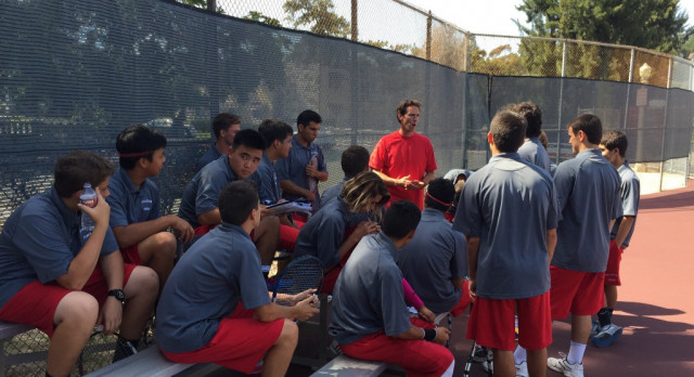 Fullerton High School Boys Varsity Tennis beat La Habra High School 18-0
