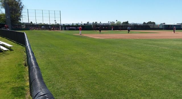 Fullerton High School Varsity Baseball beat Hemet High School 3-2