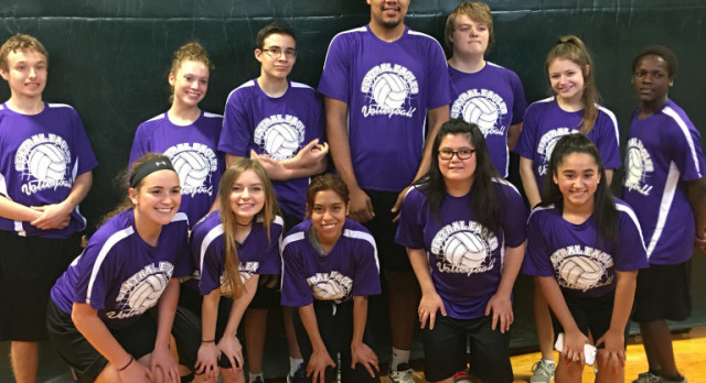 2017 Omaha Central Unified Special Olympic volleyball team