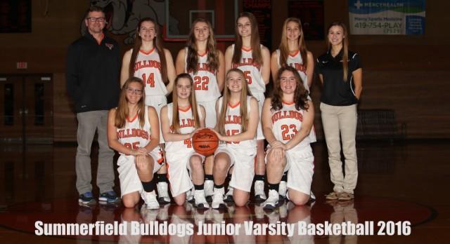 Girls JV Basketball 2016